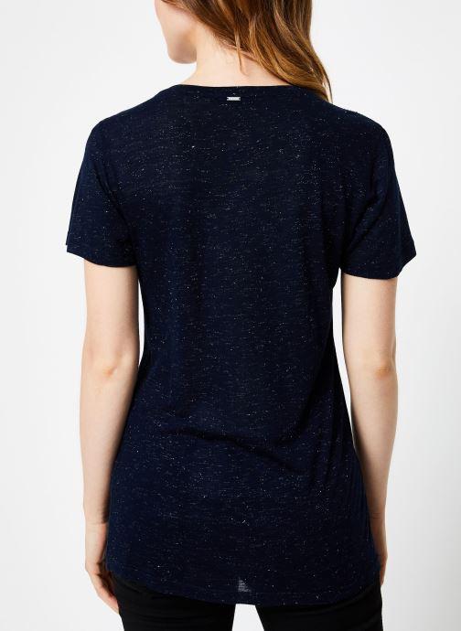 Vêtements IKKS Women Tee-Shirt Rock BP10445 Bleu vue portées chaussures