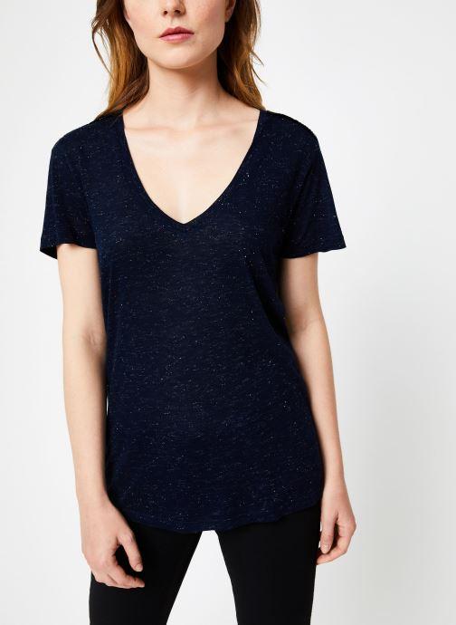 Vêtements IKKS Women Tee-Shirt Rock BP10445 Bleu vue droite