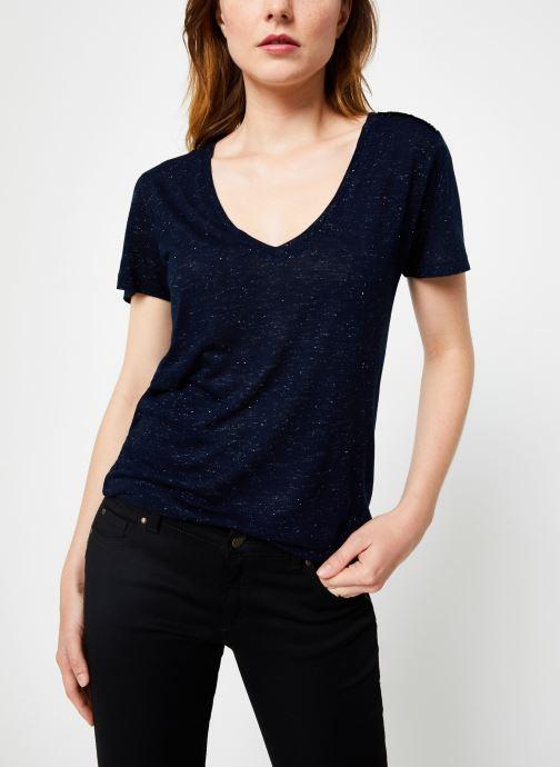 Vêtements IKKS Women Tee-Shirt Rock BP10445 Bleu vue détail/paire