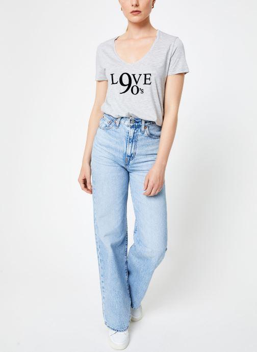 Vêtements IKKS Women Tee-Shirt Love BP10515 Gris vue bas / vue portée sac