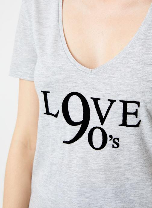 Tøj IKKS Women Tee-Shirt Love BP10515 Grå se forfra