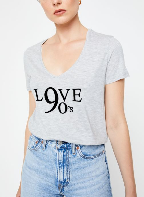 Tøj IKKS Women Tee-Shirt Love BP10515 Grå detaljeret billede af skoene