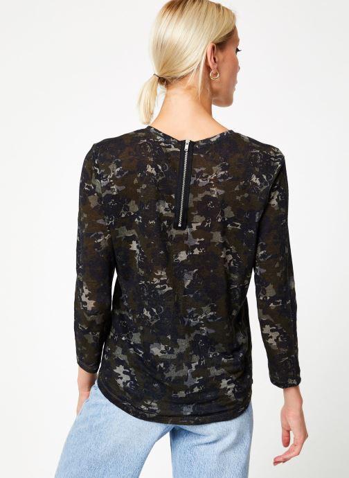 Kleding IKKS Women Tee-Shirt kaki fleurs BP10555 Groen model