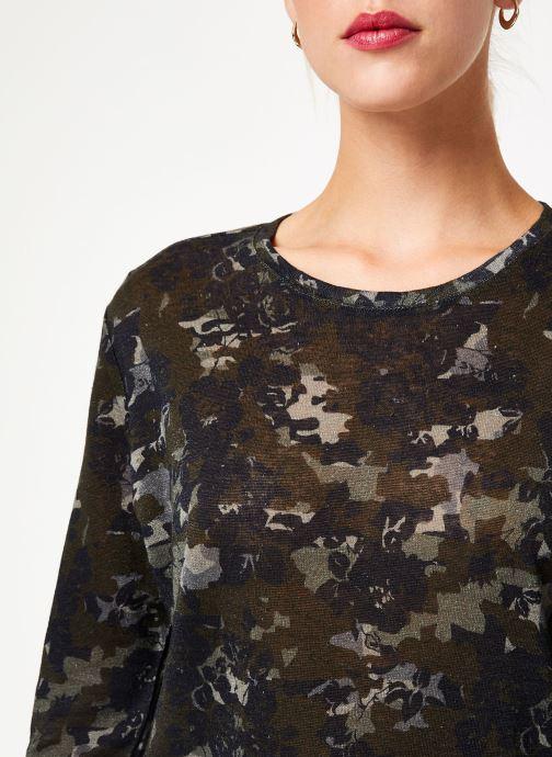 Kleding IKKS Women Tee-Shirt kaki fleurs BP10555 Groen voorkant