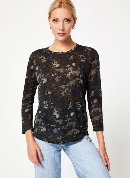 Kleding IKKS Women Tee-Shirt kaki fleurs BP10555 Groen rechts