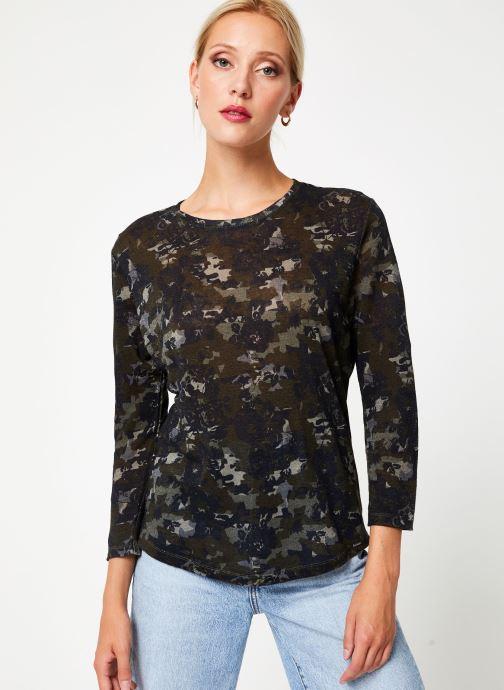 Kleding IKKS Women Tee-Shirt kaki fleurs BP10555 Groen detail