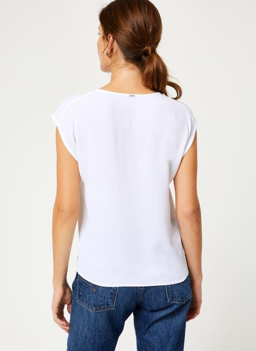 Vêtements IKKS Women Top Zip BP11005 Blanc vue portées chaussures