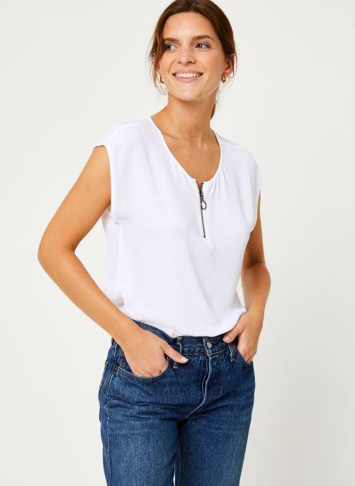 Vêtements IKKS Women Top Zip BP11005 Blanc vue détail/paire