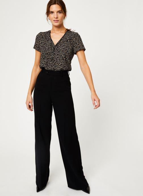 Vêtements IKKS Women Top léopard BP11065 Noir vue bas / vue portée sac