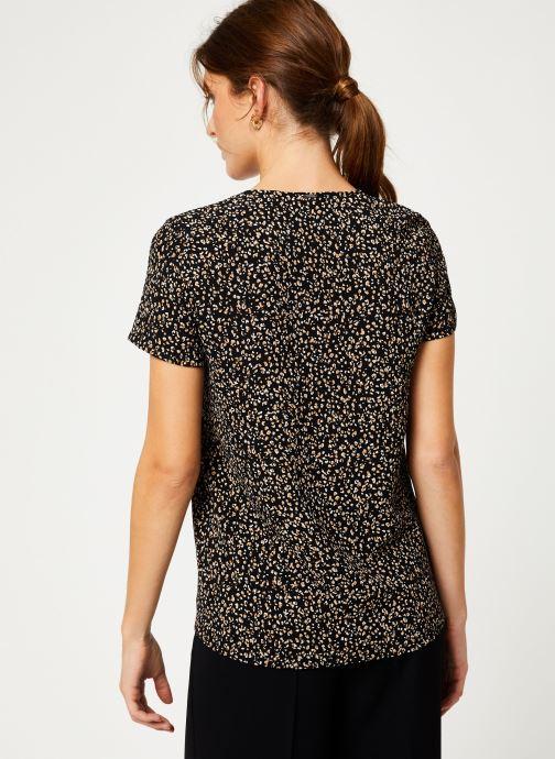Vêtements IKKS Women Top léopard BP11065 Noir vue portées chaussures