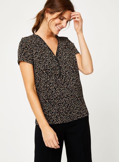 Vêtements IKKS Women Top léopard BP11065 Noir vue détail/paire