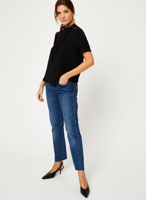 Vêtements IKKS Women Top Noir Boutons Épaules BP11085 Noir vue bas / vue portée sac