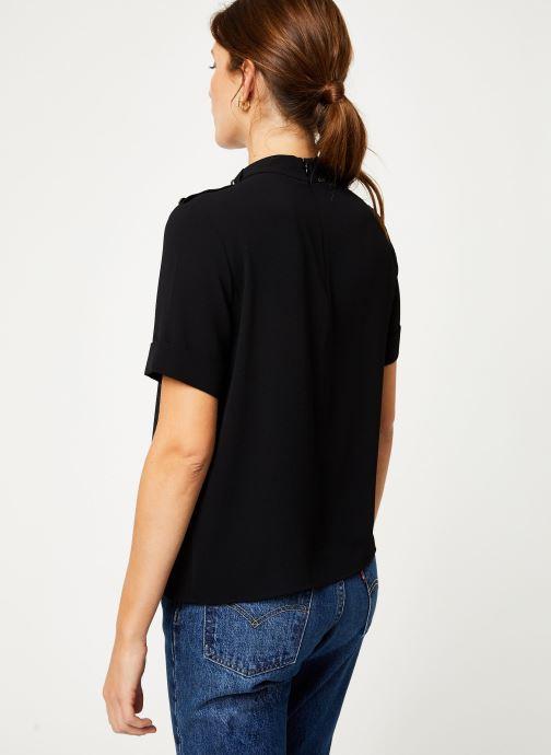 Vêtements IKKS Women Top Noir Boutons Épaules BP11085 Noir vue portées chaussures