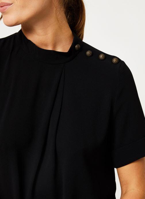 Vêtements IKKS Women Top Noir Boutons Épaules BP11085 Noir vue face