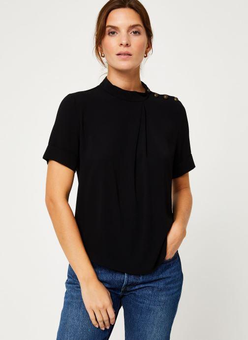 Vêtements IKKS Women Top Noir Boutons Épaules BP11085 Noir vue détail/paire