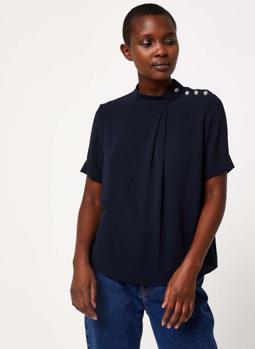 Vêtements IKKS Women Top Marine Boutons Épaules BP11085 Bleu vue droite