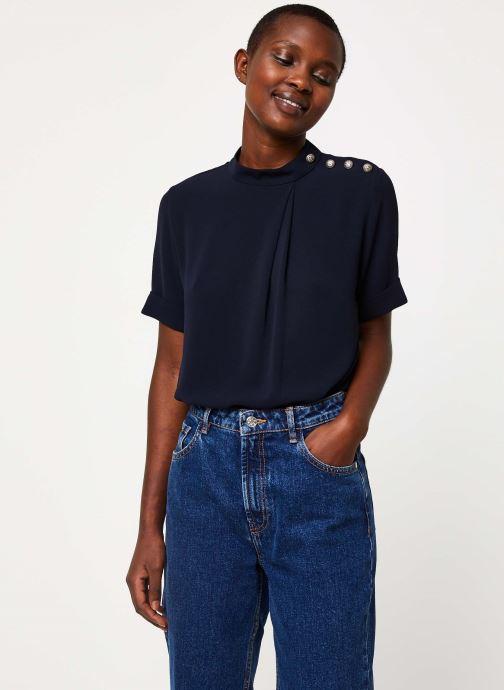 Vêtements IKKS Women Top Marine Boutons Épaules BP11085 Bleu vue détail/paire
