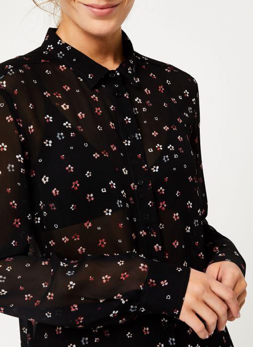 Vêtements IKKS Women Chemise FleurieBP12025 Noir vue face