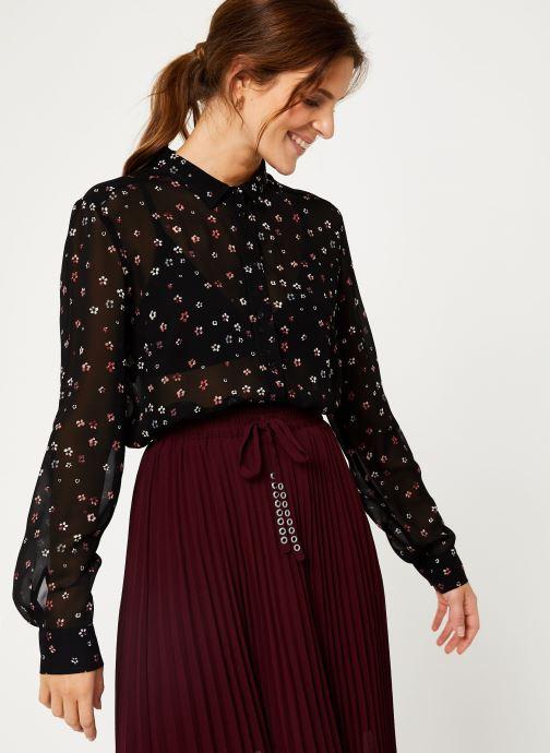 Vêtements IKKS Women Chemise FleurieBP12025 Noir vue détail/paire