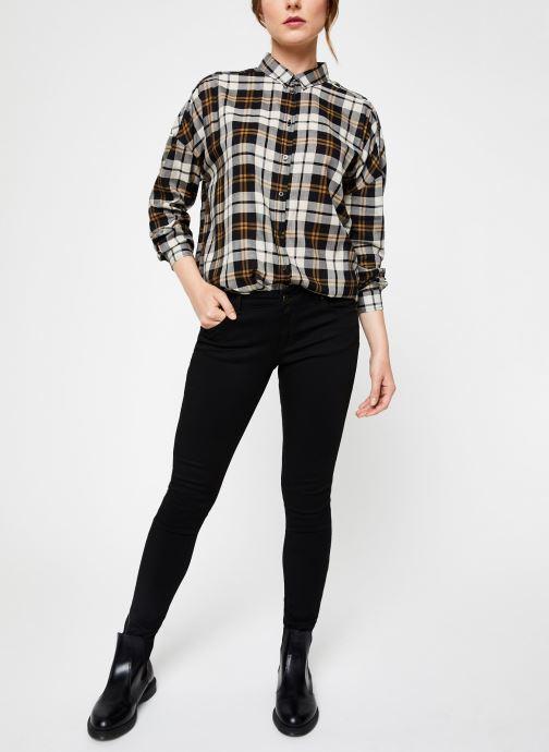 Vêtements IKKS Women Chemise Carreaux BP12035 Noir vue bas / vue portée sac