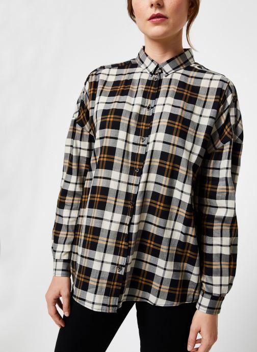 Vêtements IKKS Women Chemise Carreaux BP12035 Noir vue détail/paire