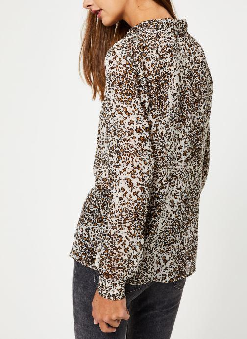 Vêtements IKKS Women Chemise leopard BP12075 Beige vue portées chaussures