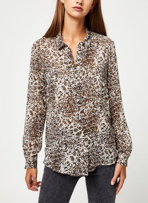 Vêtements IKKS Women Chemise leopard BP12075 Beige vue droite