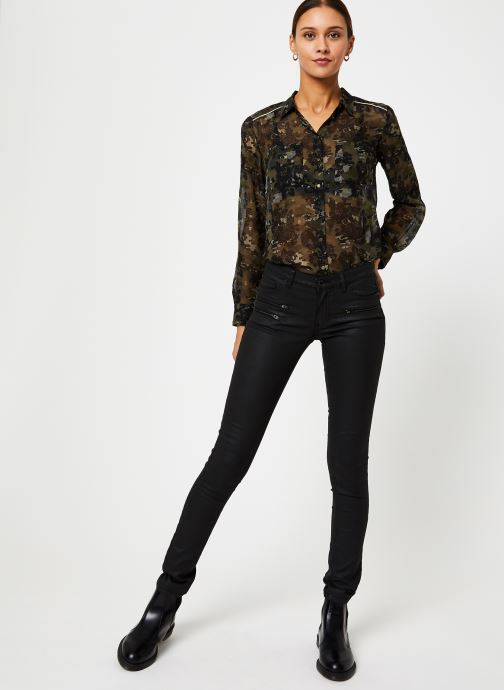 Vêtements IKKS Women Chemise Camouflage BP12125 Vert vue bas / vue portée sac
