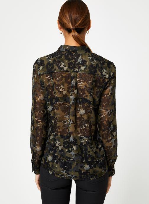 Vêtements IKKS Women Chemise Camouflage BP12125 Vert vue portées chaussures