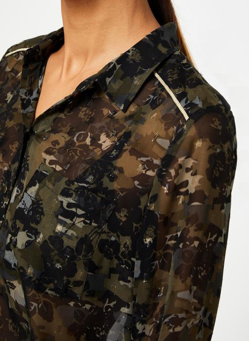 Vêtements IKKS Women Chemise Camouflage BP12125 Vert vue face