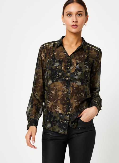Vêtements IKKS Women Chemise Camouflage BP12125 Vert vue droite