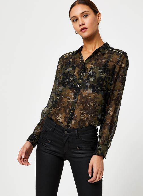 Vêtements IKKS Women Chemise Camouflage BP12125 Vert vue détail/paire