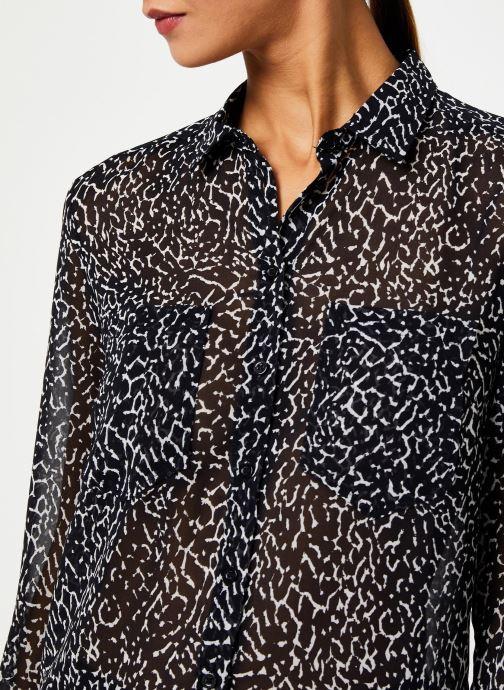 Vêtements IKKS Women Chemise Animal BP12285 Noir vue face