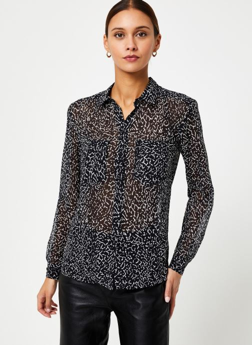 Vêtements IKKS Women Chemise Animal BP12285 Noir vue droite