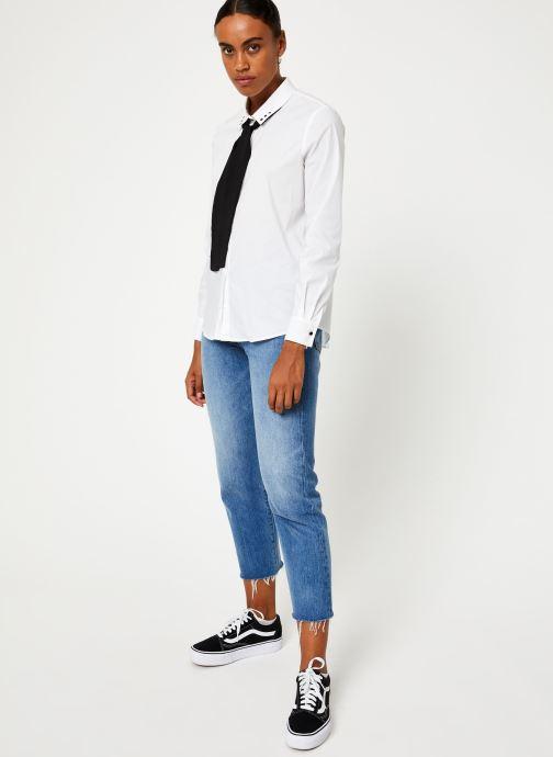 Vêtements IKKS Women Chemisier Lavalière BP12305 Blanc vue bas / vue portée sac