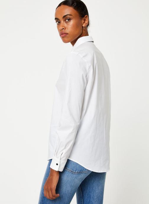 Vêtements IKKS Women Chemisier Lavalière BP12305 Blanc vue portées chaussures