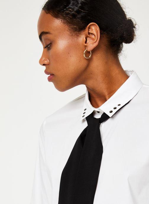 Vêtements IKKS Women Chemisier Lavalière BP12305 Blanc vue face