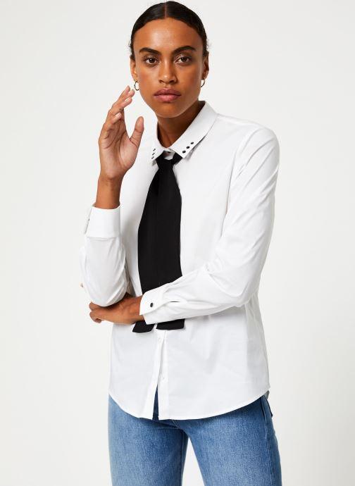 Vêtements IKKS Women Chemisier Lavalière BP12305 Blanc vue droite