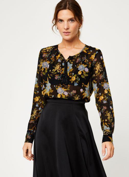 Vêtements IKKS Women Blouse Frida Kahlo BP13125 Noir vue détail/paire