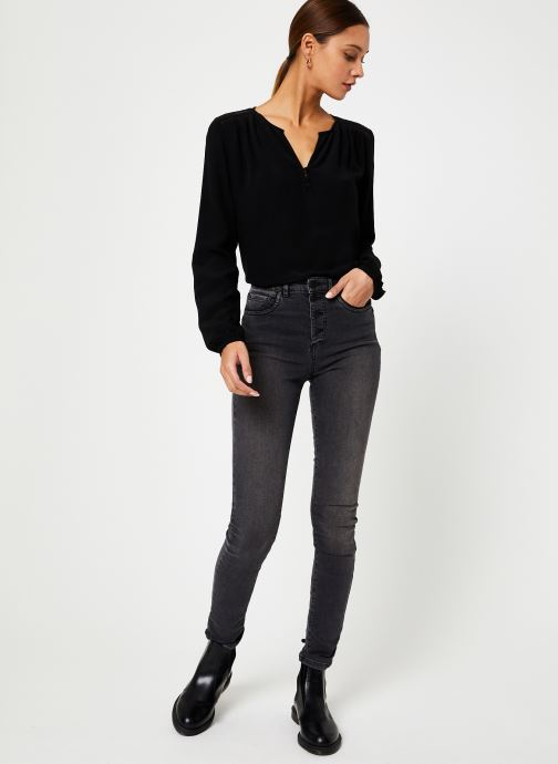 Vêtements IKKS Women Blouse Resille BP13165 Noir vue bas / vue portée sac