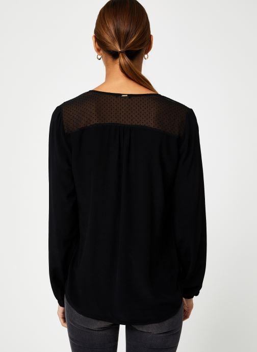 Vêtements IKKS Women Blouse Resille BP13165 Noir vue portées chaussures