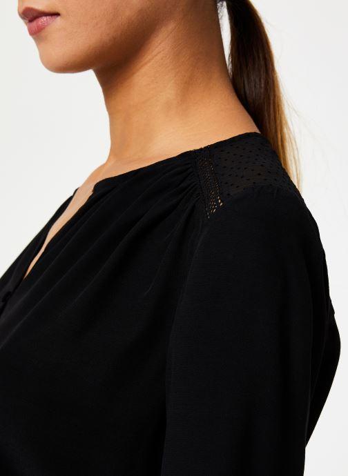 Vêtements IKKS Women Blouse Resille BP13165 Noir vue face