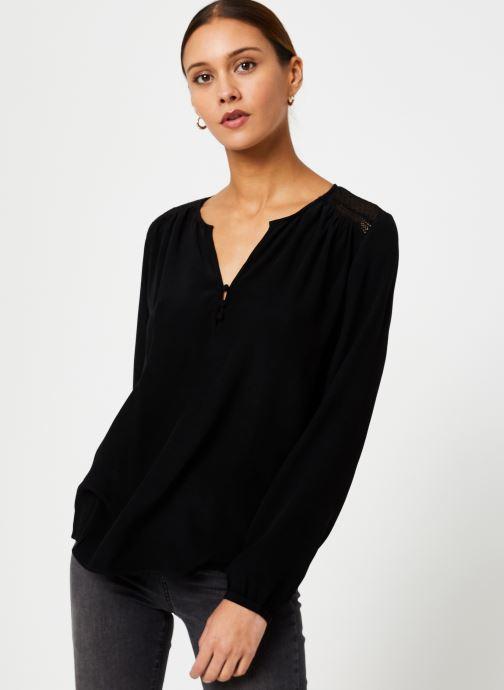 Vêtements IKKS Women Blouse Resille BP13165 Noir vue droite