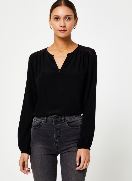 Vêtements IKKS Women Blouse Resille BP13165 Noir vue détail/paire