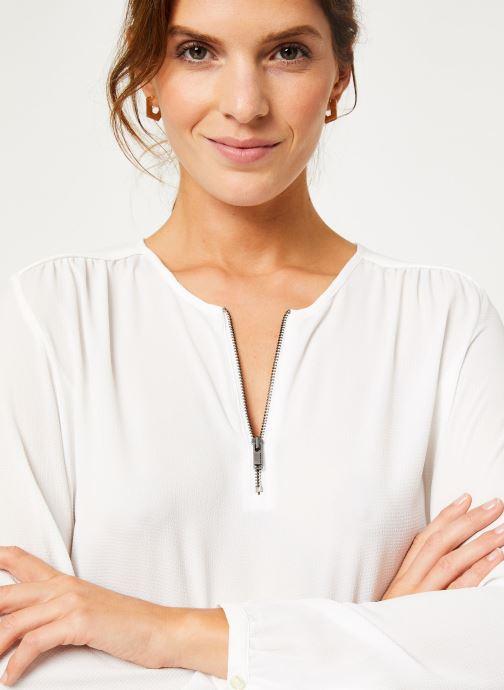 Kleding IKKS Women Blouse zip BP13175 Wit voorkant