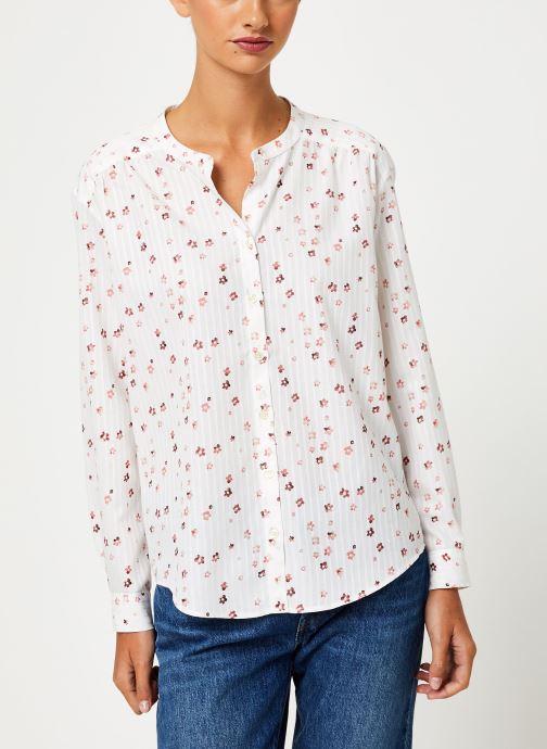 Vêtements IKKS Women Blouse fleurie BP13295 Blanc vue droite