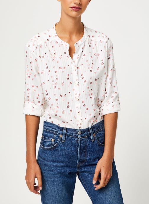Vêtements IKKS Women Blouse fleurie BP13295 Blanc vue détail/paire