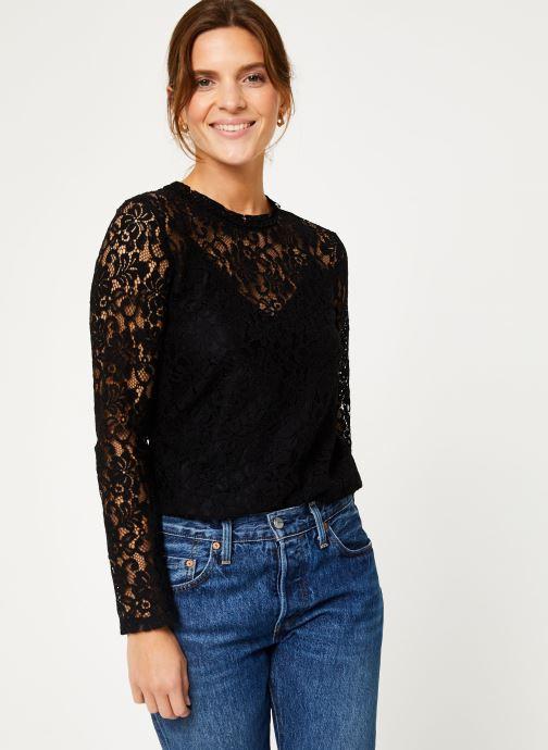 Vêtements IKKS Women Blouse Noire Dentelle BP13305 Noir vue droite