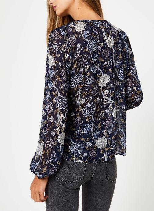 Vêtements IKKS Women Blouse Imprimee BP13345 Bleu vue portées chaussures
