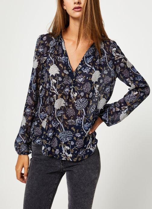 Vêtements IKKS Women Blouse Imprimee BP13345 Bleu vue droite